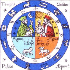 Ett frimärke med stjärntecken.