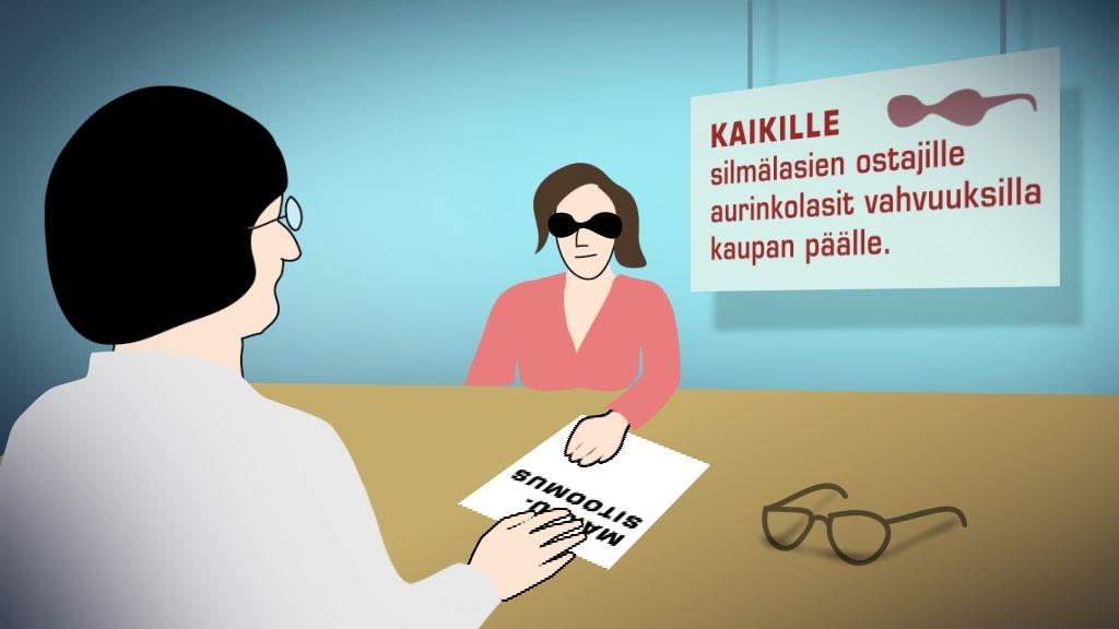 Miksi sosiaalitoimiston maksusitoumuksella ei saa kaupan päälle luvattuja  aurinkolaseja   96bb1dc519