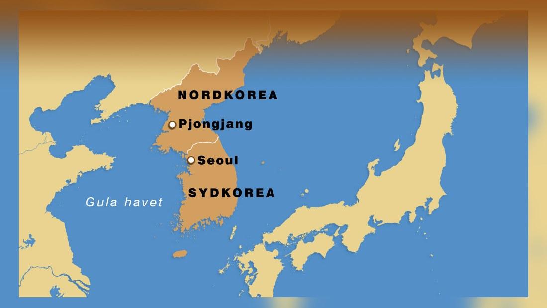 koreakriget karta Skottlossning mellan Nord  och Sydkorea   Utrikes   svenska.yle.fi koreakriget karta