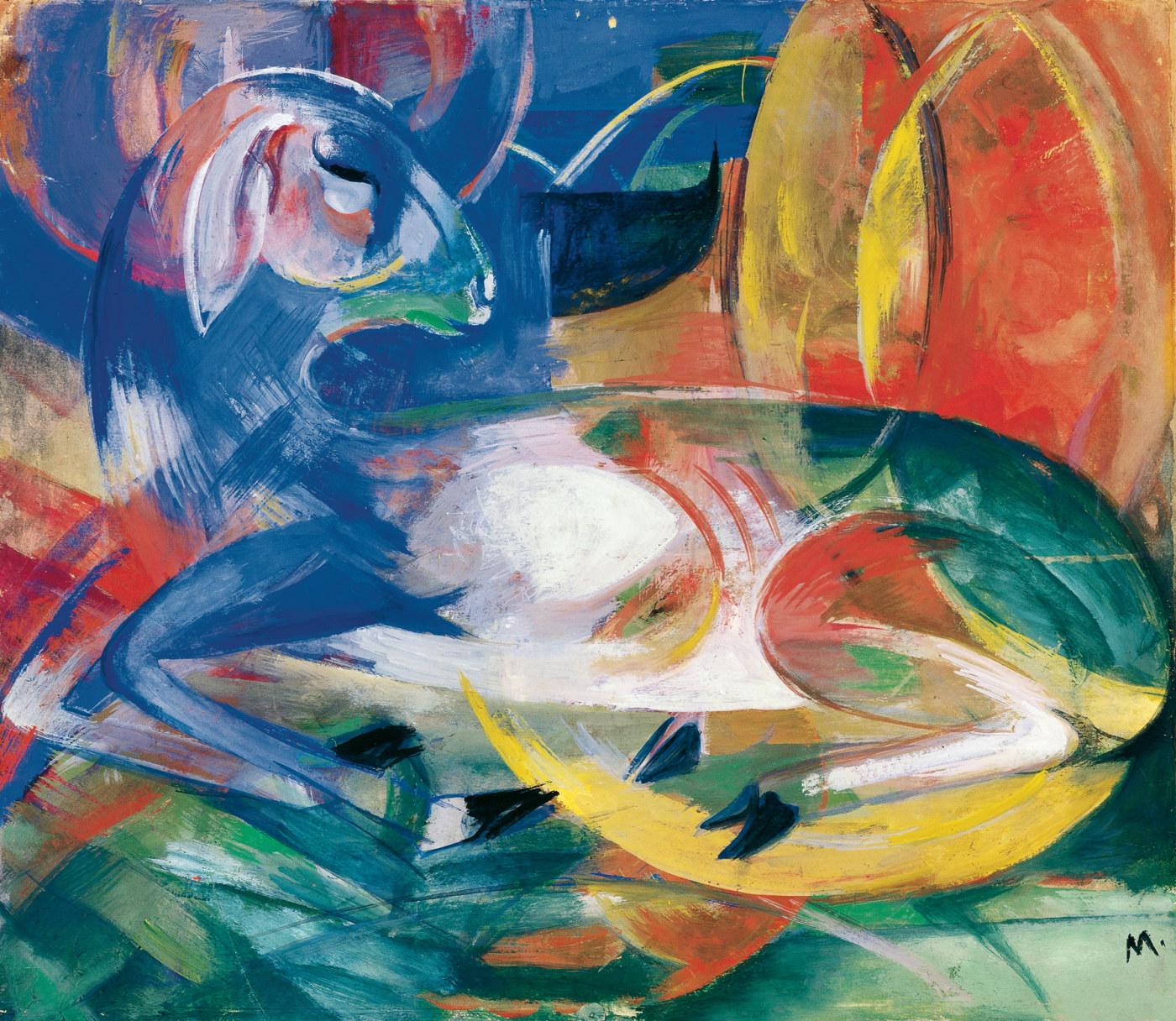 Картинки по запросу franz marc blaues lamm