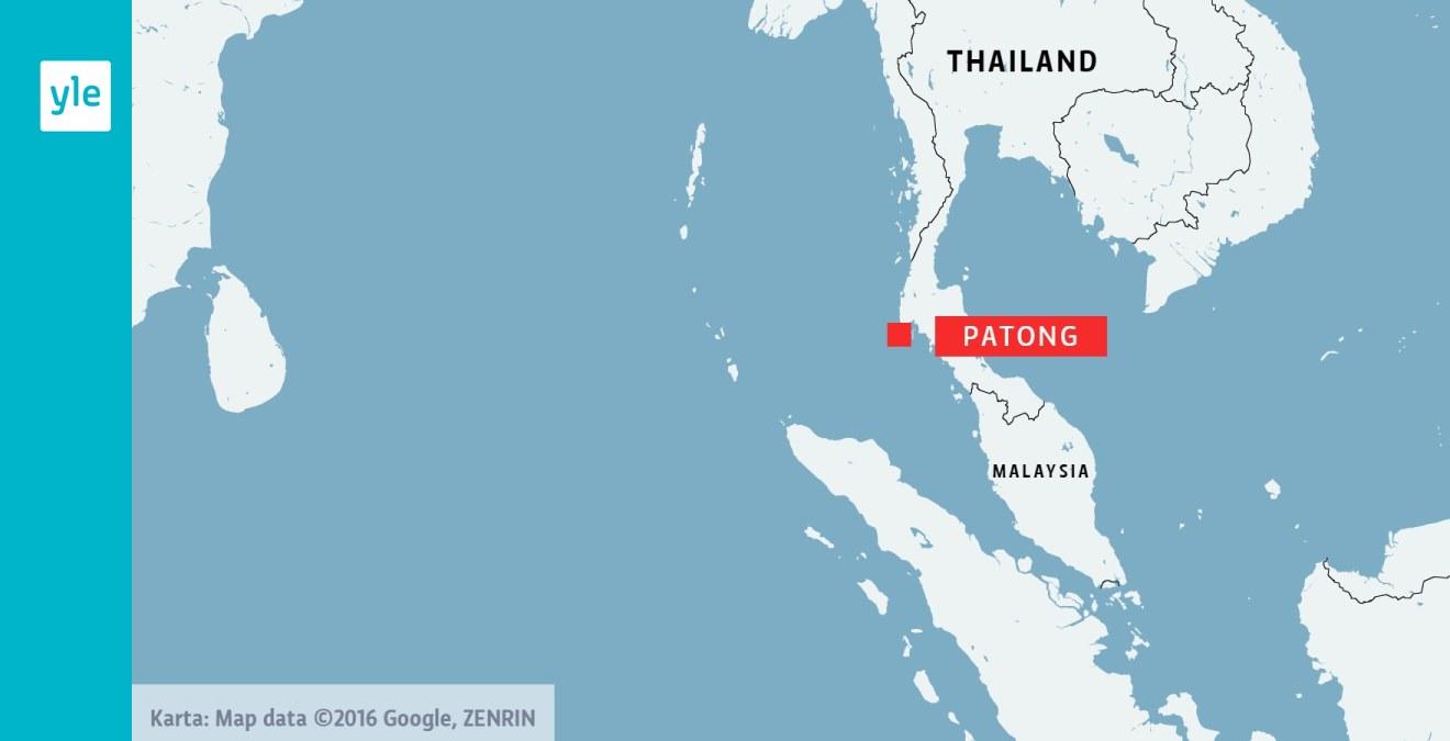 Karta Thailand Patong.Ung Finlandsk Kvinna Omkom I Phuket Utrikes Svenska Yle Fi