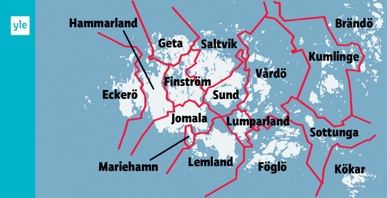 16 Kommuner Blir Fyra Pa Aland Aboland Svenska Yle Fi