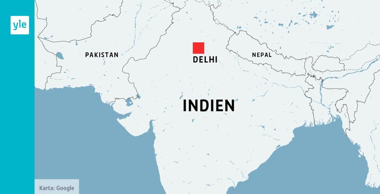 Atminstone 43 Har Dott I Kraftig Brand I Indiens Huvudstad New