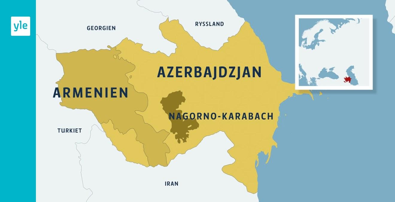 Konflikten Om Nagorno Karabach Fortsatter Stora Protester I Azerbajdzjan Efter Dodliga Sammandrabbningar Vid Gransen Utrikes Svenska Yle Fi