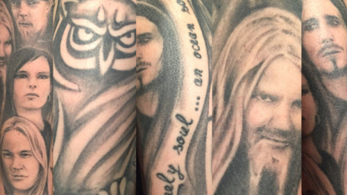 How does it feel to have Anette's face tattooed on an arm