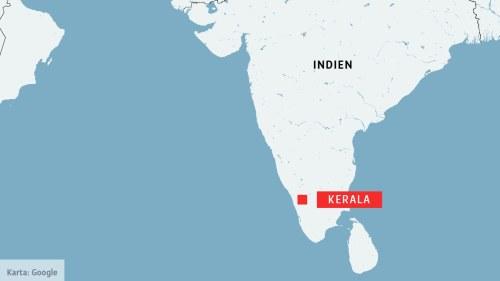 indien karta kerala De värsta översvämningar på ett århundrade pinar Kerala i Indien  indien karta kerala