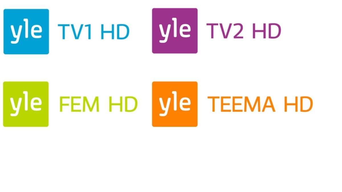 Logotyper för Yles HD-kanaler