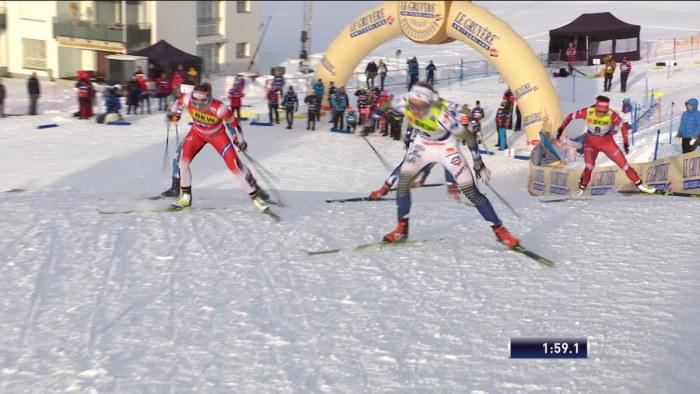 Oj Du Milde Himmel Svenska 20 Aringen Storimponerade Krista Parmakoski Enda Finlandare I Semifinal I Varldscupssprinten I Davos Sport Svenska Yle Fi