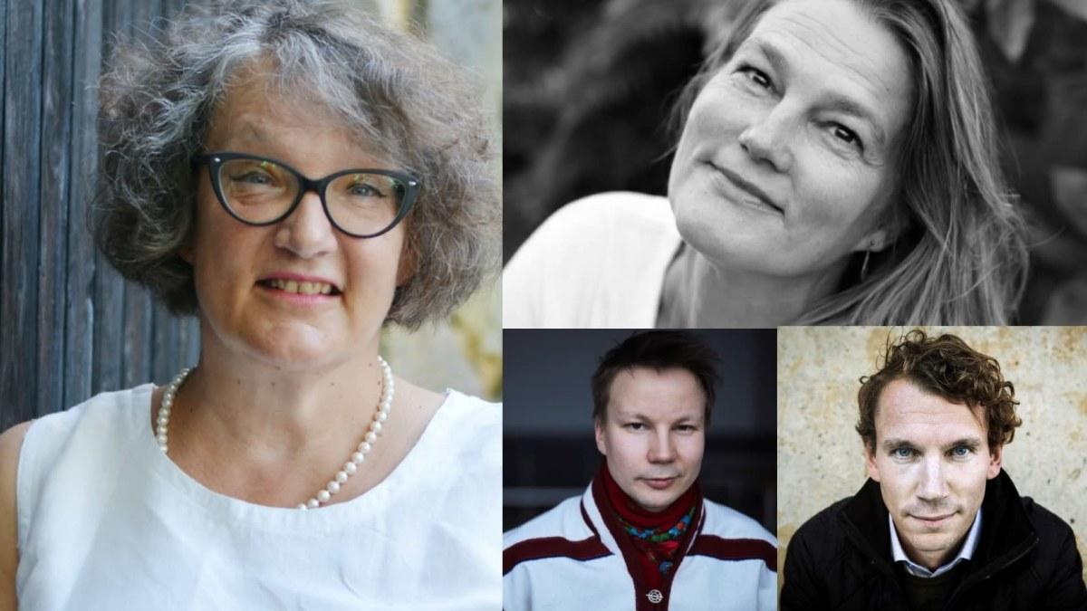 Monika Fagerholm, Mikaela Nyman, Juha Itkonen och Niillas Holmberg nominerade till Nordens största litteraturpris