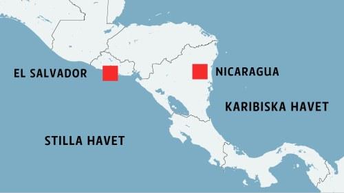 Karta Over Spaniens Vastkust.Orkanen Otto Slog Till I Nicaragua En Timme Senare Skakade En