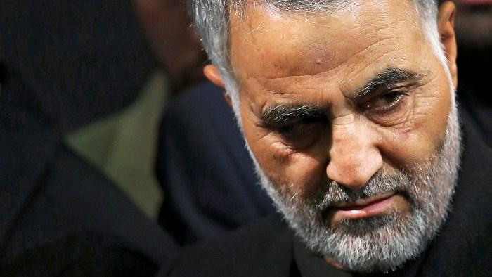 Qasem Soleimani dödades i en amerikansk missilattack på Bagdads flygplats för ett år sedan