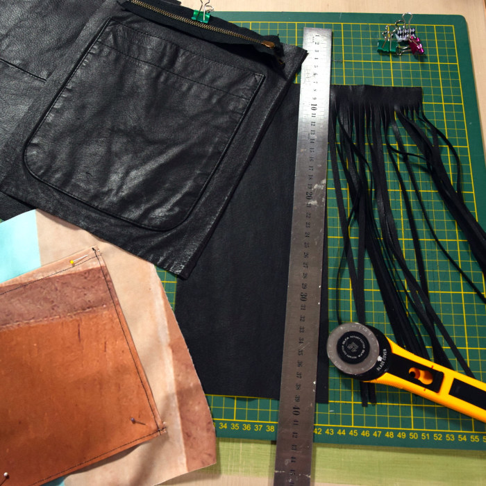 sy i läder med vanlig symaskin