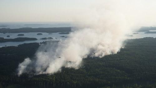 Karta Over Skogsbrander I Sverige.Torrt Aprilvader Orsakar Skogsbrander I Nordeuropa Utrikes