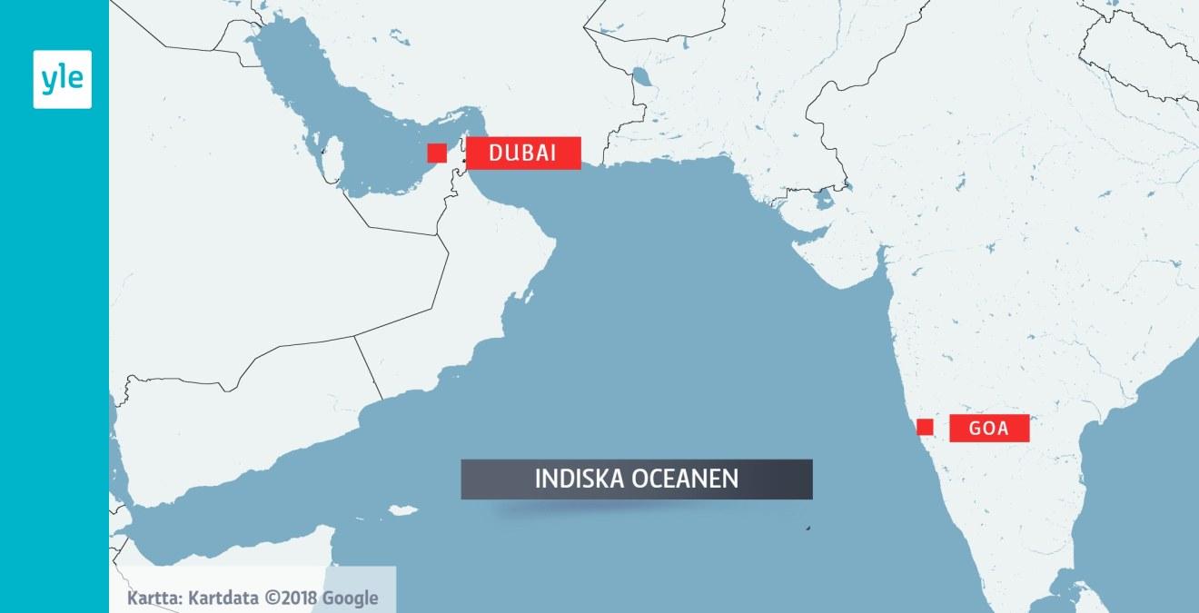 Finlandsk Kvinna Kan Ha Forsvunnit Pa Indiska Oceanen Tillsammans