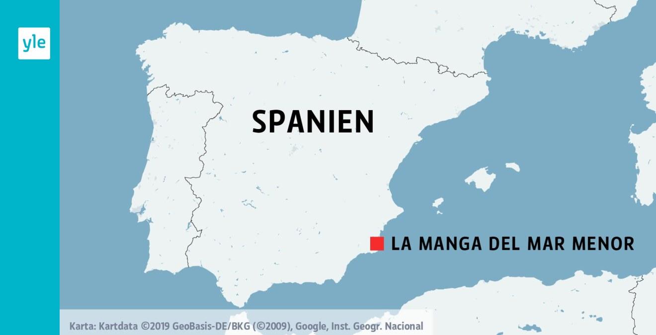 Stridsflygplan Kraschade I Havet Utanfor Spanien Piloten Dog I