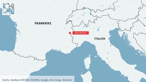 Karta Sverige Frankrike.En Dod Tva Saknas Efter Lavin I Franska Alperna Utrikes Svenska