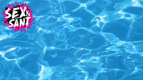 bada med tampong i pool