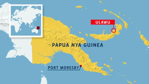 Vulkanutbrott I Papua Nya Guinea Vulkanen Ar En Av