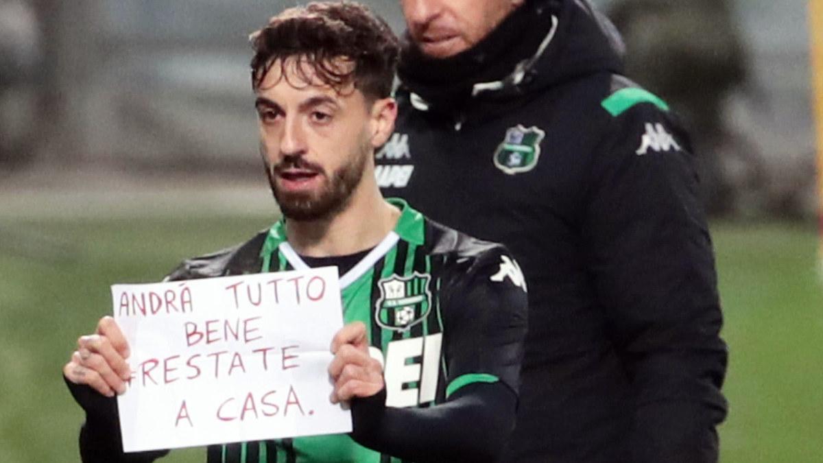 Simon Skrabb fick hoppa in i Serie A – Brescia åkte på klar förlust och nu tar italienska fotbollsligan ta paus i en månad ...