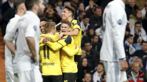 Dortmund vann men real vidare