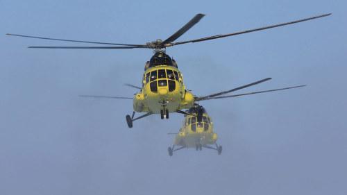 Flera skadade nar helikopter kraschade
