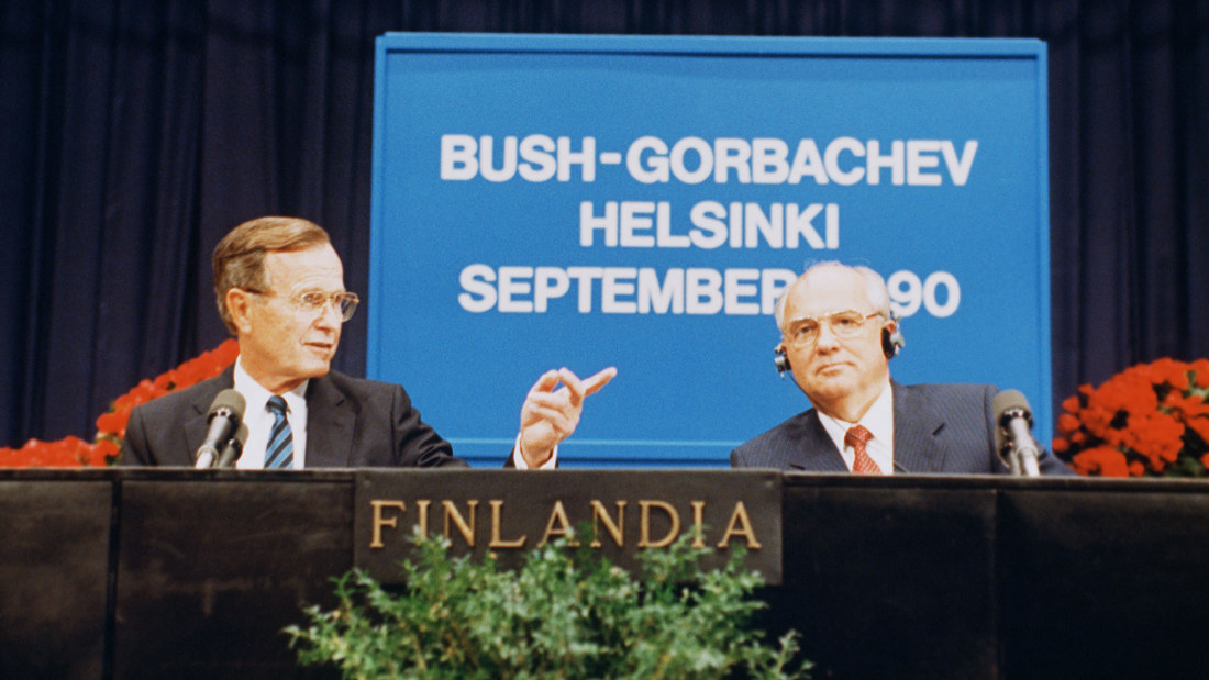 Slikovni rezultat za bush and gorbachev helsinki