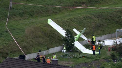 Flygplan kraschade sju dog