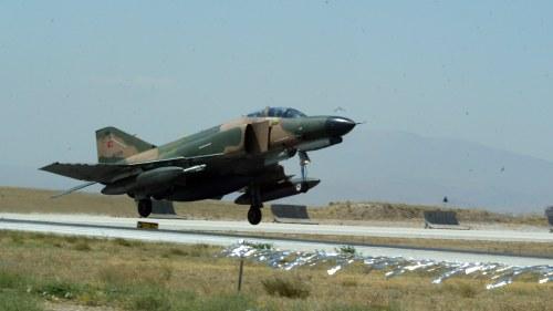 Turkiskt stridsflygplan kraschade