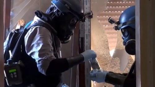 Kemiska vapen har borjat forstoras i syrien
