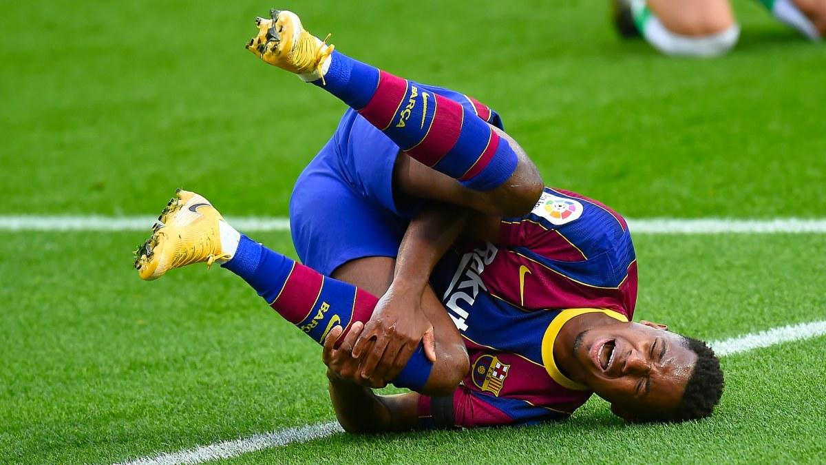 Barcelonas superlöfte Ansu Fati opererades – tvingas vara borta från matcher i fyra månader