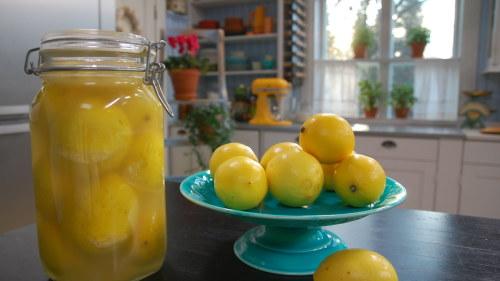 Marockanska inlagda citroner