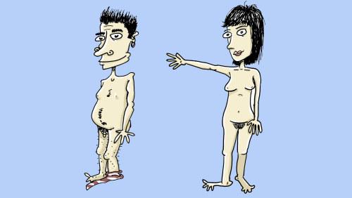 Varm japansk flicka naken