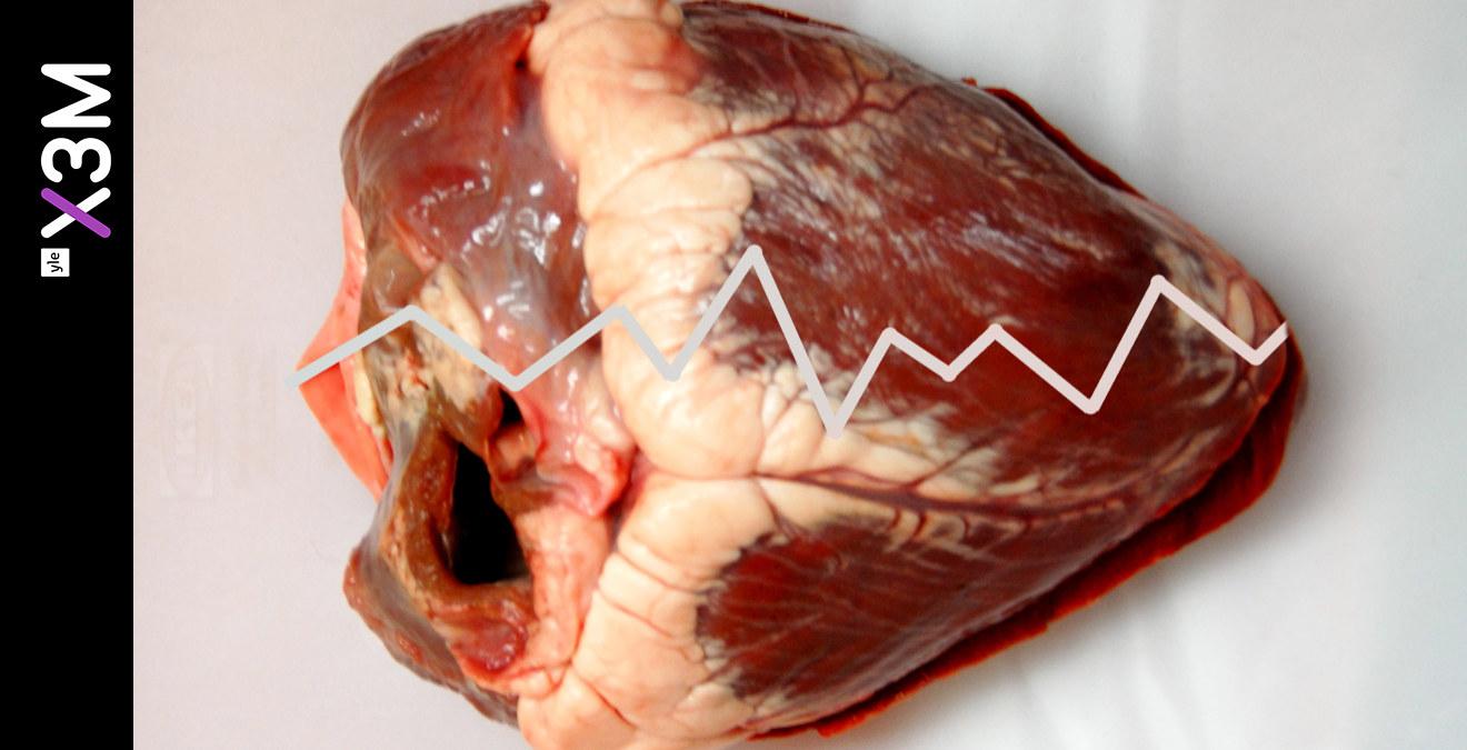 ont över hjärtat