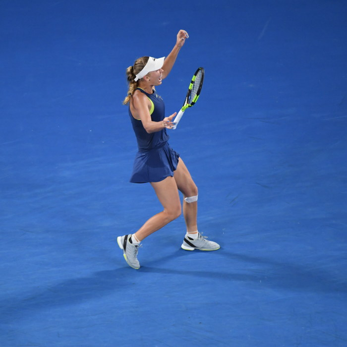 Wozniackis storsta titel kan inte vara lyckligare