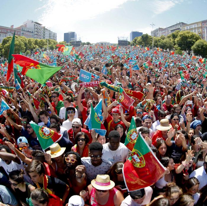 Vinst men portugal buades ut av publiken