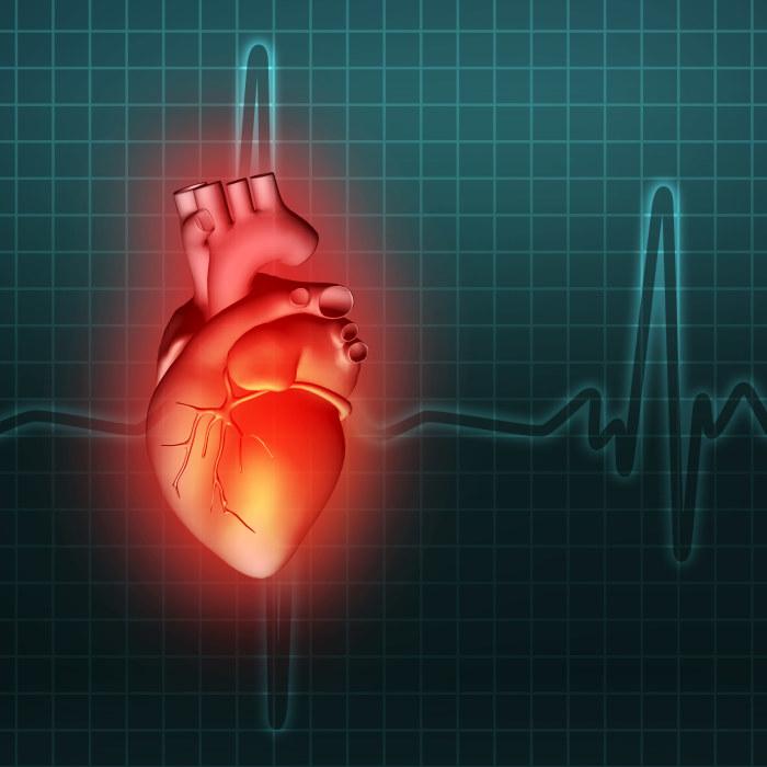ont kring hjärtat