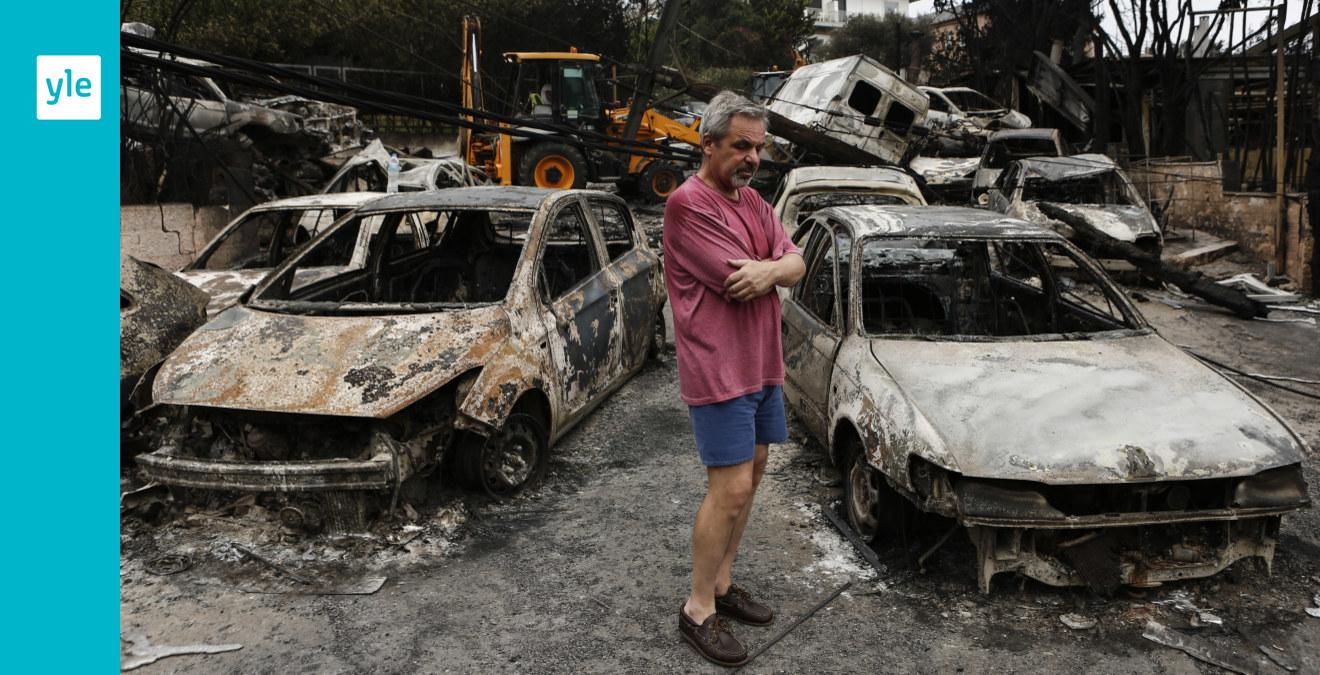 70 evakuerade undan eld pa strand
