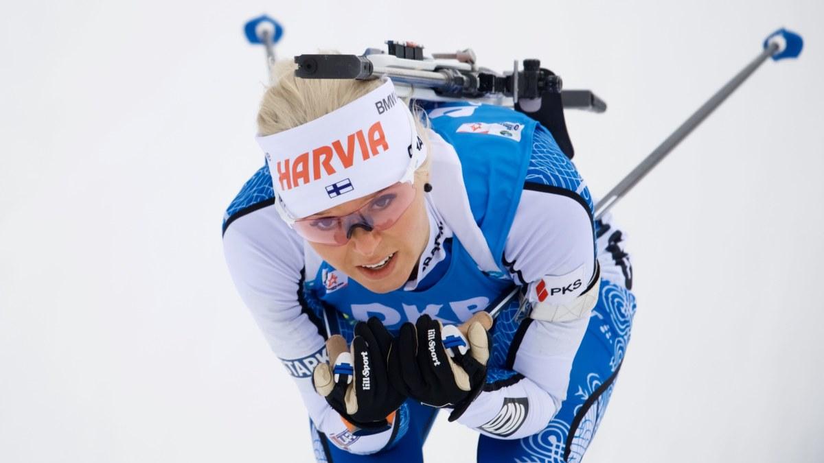Succésprint av skidskytten Mari Eder – bästa världscupplaceringen på tre år