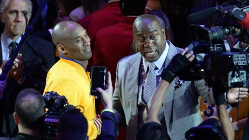 new styles c990c 9d412 Kobe Bryant och Magic Johnson.