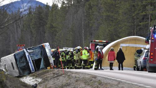 Svenskar skadade i bussolycka i norge