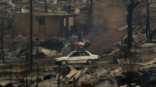 Flera hem forstorda i skogsbranderna