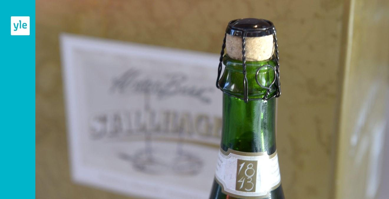 Unikt champagnefynd pa aland