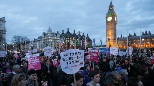 Demonstranter ville stoppa bush