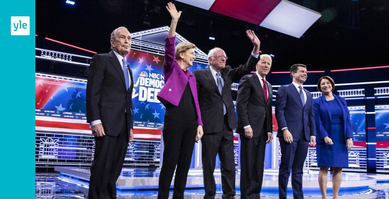 Gnistorna yrde när sex demokrater drabbade samman i eldfängd tv-debatt – debattdebuterande Michael Bloomberg ...