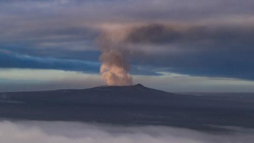 Aska fran vulkan hotade flyget