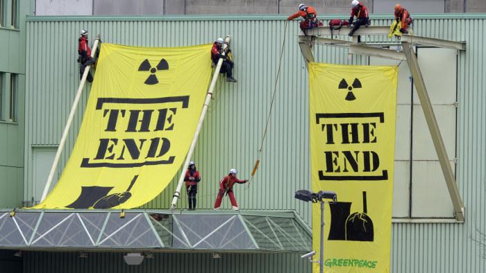 Greenpeace vill ta ringhals ur bruk