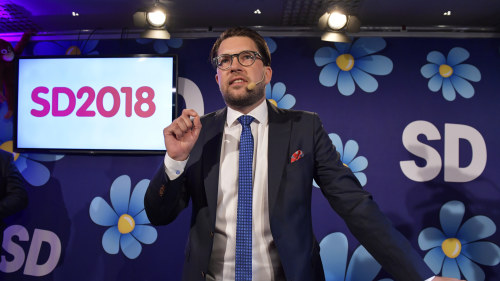 Stort jubel hos sverigedemokraterna