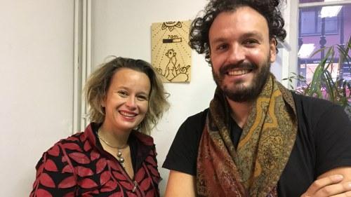 Marita Muukkonen och Ivor Stodolsky på Perpetuum Mobile.