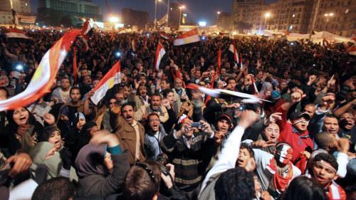 Egypten nya protester mot armen