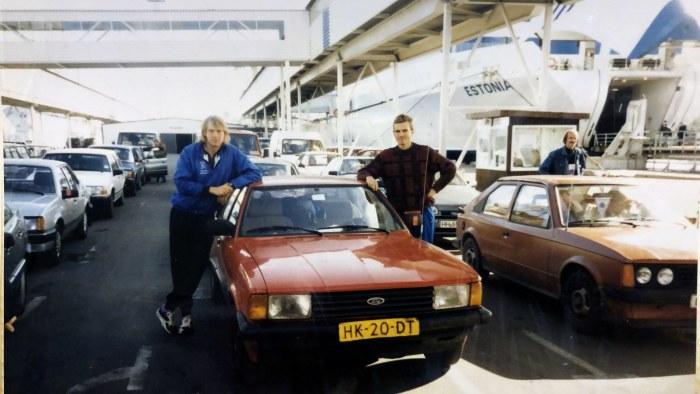 estniska triathlonister vid m/s Estonias terminal 1994